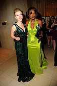 Scarlett Johansson and Viola Davis pose with their awards at the 64th Annual Tony Awards at The Sports Club/LA on June 13 2010 in New York City
