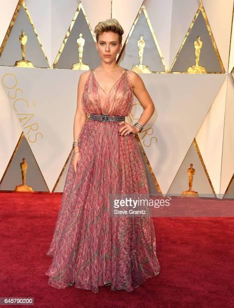 Scarlett Johansson arrives at the 89th Annual Academy Awards at Hollywood Highland Center on February 26 2017 in Hollywood California