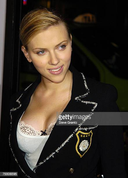 Scarlett Johansson at the Grauman's Chinese Theatre in Hollywood California