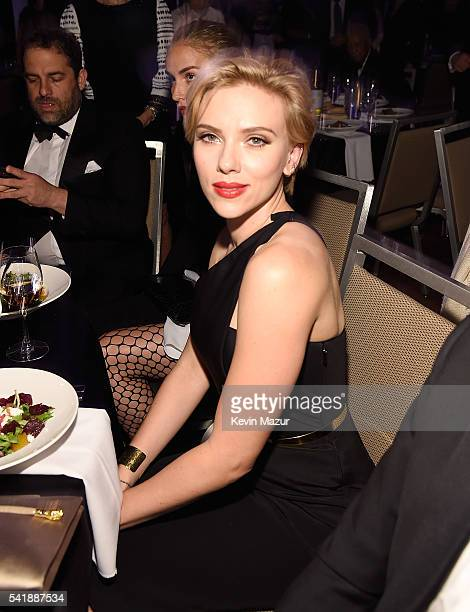 Scarlett Johansson attends Friars Club honors Tony Bennett with The Entertainment Icon Award at New York Sheraton Hotel Tower on June 20 2016 in New...