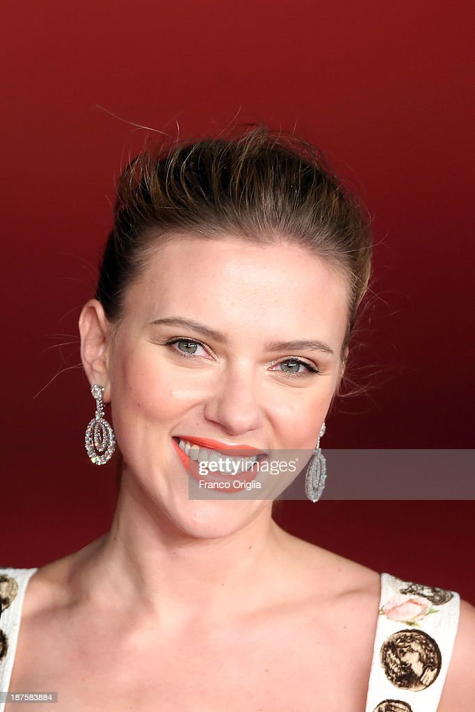 <a gi-track='captionPersonalityLinkClicked' href=/galleries/search?phrase=Scarlett+Johansson&family=editorial&specificpeople=171858 ng-click='$event.stopPropagation()'>Scarlett Johansson</a> attends 'Her' Premiere during The 8th Rome Film Festival at Auditorium Parco Della Musica on November 10, 2013 in Rome, Italy.