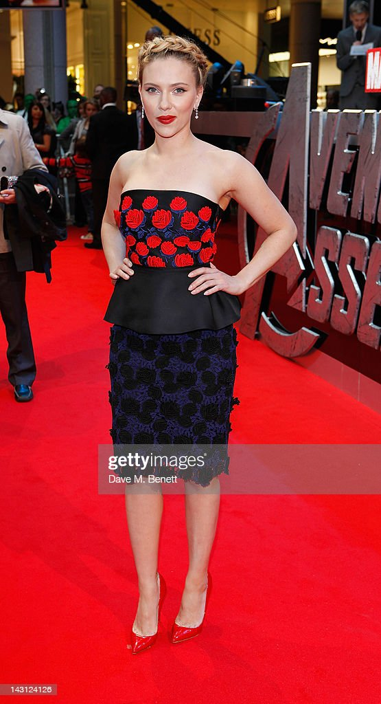 <a gi-track='captionPersonalityLinkClicked' href=/galleries/search?phrase=Scarlett+Johansson&family=editorial&specificpeople=171858 ng-click='$event.stopPropagation()'>Scarlett Johansson</a> attends Marvel Avengers Assemble European Premiere at Vue Westfield on April 19, 2012 in London, England.