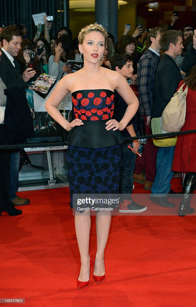 <a gi-track='captionPersonalityLinkClicked' href=/galleries/search?phrase=Scarlett+Johansson&family=editorial&specificpeople=171858 ng-click='$event.stopPropagation()'>Scarlett Johansson</a> attends Marvel Avengers Assemble European Premiere at Vue Westfield on April 19, 2012 in London, England. on April 19, 2012 in London, England.