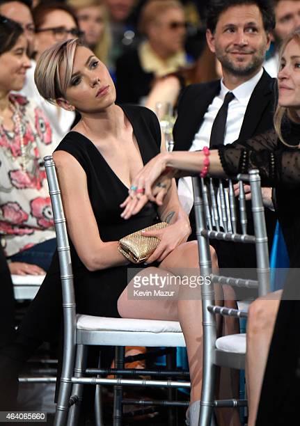 Scarlett Johansson attends the 2015 Film Independent Spirit Awards at Santa Monica Beach on February 21 2015 in Santa Monica California