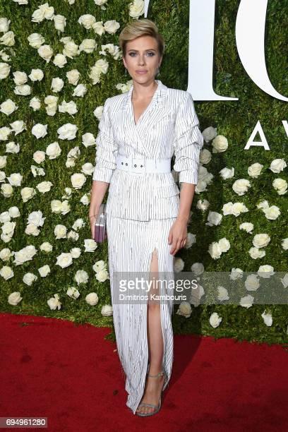 Scarlett Johansson attends the 2017 Tony Awards at Radio City Music Hall on June 11 2017 in New York City