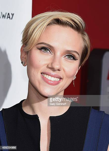 Scarlett Johansson attends the 2nd Annual Champions Of Rockaway Hurricane Sandy Benefit at Hudson Terrace on November 18 2014 in New York City