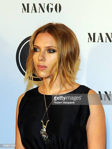 Scarlett Johansson attends the 3rd edition of the Mango Fashion Awards held at the MNAC on October 20 2010 in Barcelona Spain