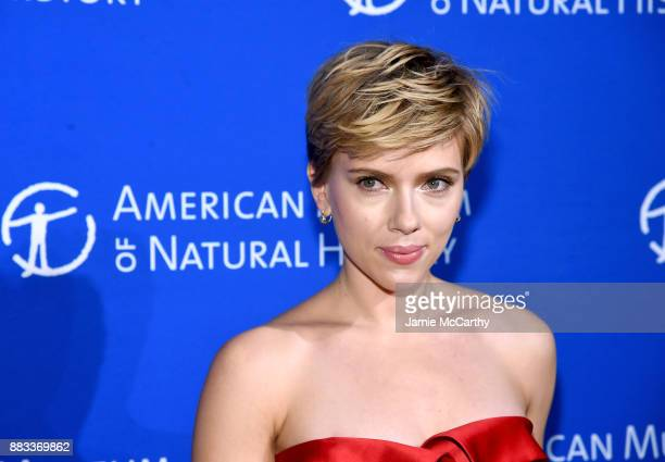 Scarlett Johansson attends the American Museum Of Natural History's 2017 Museum Gala at American Museum of Natural History on November 30 2017 in New...