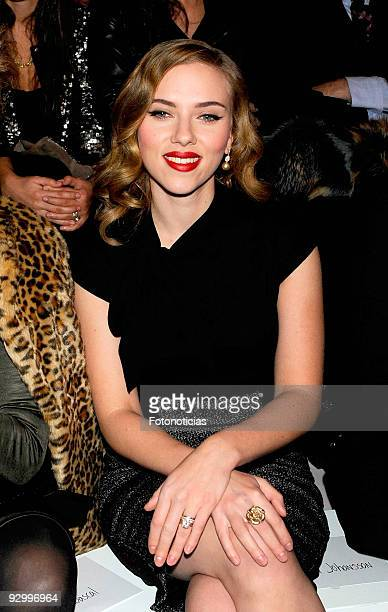 Scarlett Johansson attends the launch party of the Mango collection at the Caja Magica on November 11 2009 in Madrid Spain