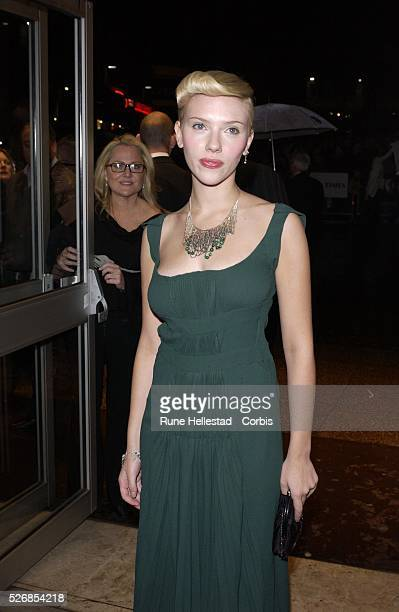 Scarlett Johansson attends the premiere of 'Girl With A Pearl Earring' at the Odeon WestEnd in conjunction with the London Film Festival