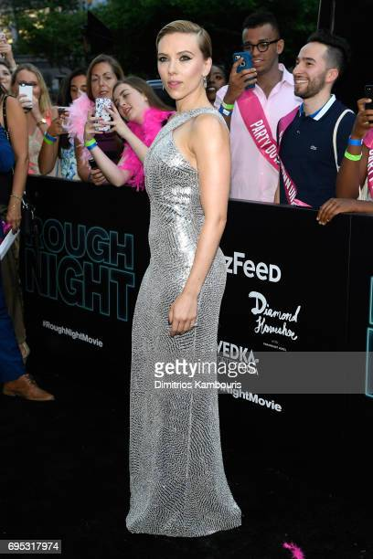 Scarlett Johansson attends the 'Rough Night' premeire at AMC Loews Lincoln Square on June 12 2017 in New York City