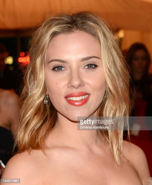 Scarlett Johansson attends the 'Schiaparelli And Prada Impossible Conversations' Costume Institute Gala at the Metropolitan Museum of Art on May 7...
