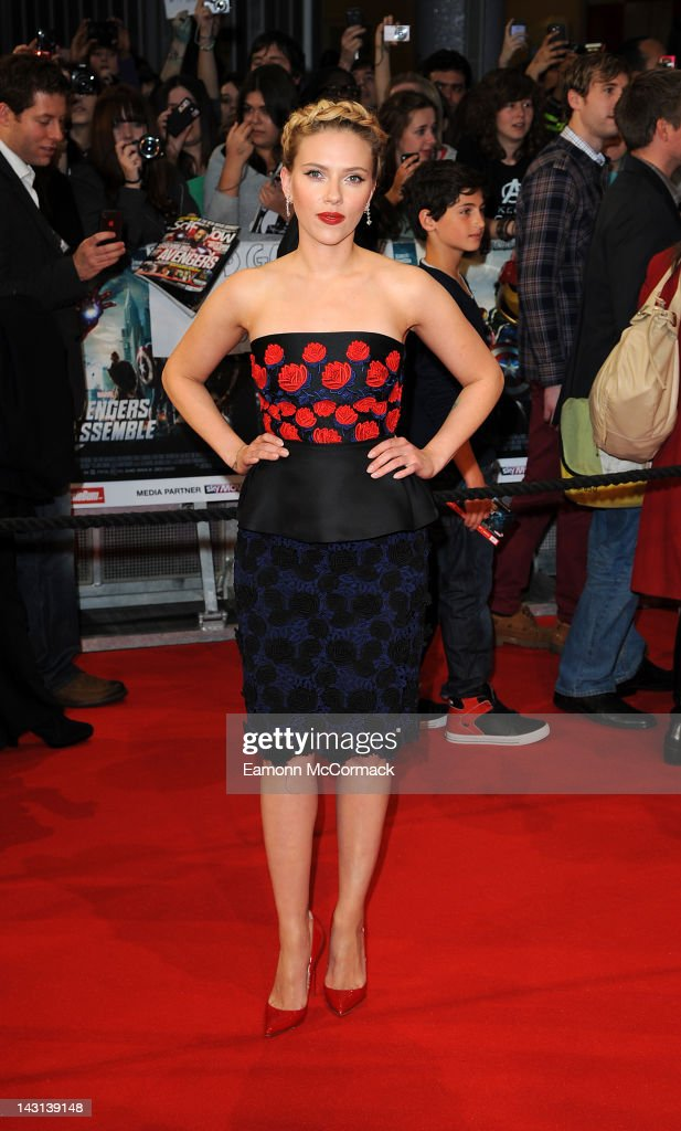 <a gi-track='captionPersonalityLinkClicked' href=/galleries/search?phrase=Scarlett+Johansson&family=editorial&specificpeople=171858 ng-click='$event.stopPropagation()'>Scarlett Johansson</a> attends the UK premiere of Marvel Avengers Assemble at Vue West End on April 19, 2012 in London, England.
