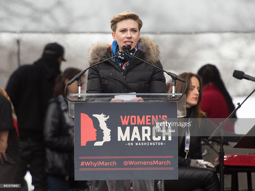"""Scarlett Johansson gave a moving speech about Planned Parenthood at the Women's March on Washington. """"For the more than 2.5 million patients a year that rely on Planned Parenthood services for cancer and STD screenings, birth control, safe abortion and pregnancy planning these are uncertain and anxious times. Lawmakers in 24 states have tried to block patients from receiving care at Planned Parenthood. Congress has voted to limit reproductive services nine times. There are very real and devastating consequences to limiting access to what should be considered basic health care."""""""
