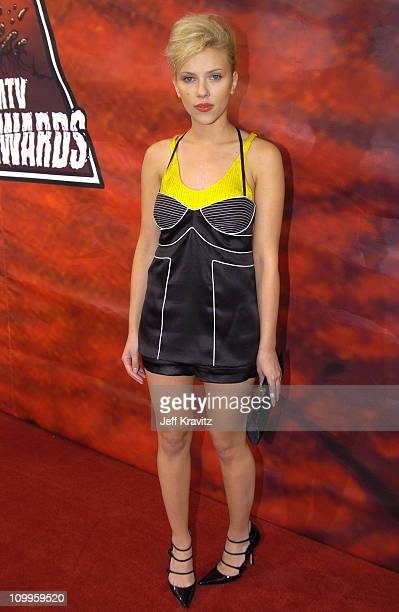 Scarlett Johansson during 2004 MTV Movie Awards Red Carpet at Sony Pictures Studios in Culver City California United States