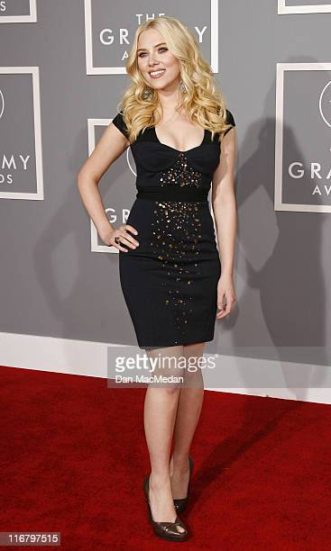 Scarlett Johansson during 49th Annual GRAMMY Awards Photography by Dan MacMedan at Staples Center in Los Angeles California United States