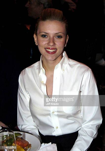 Scarlett Johansson during Ambassadors For Humanity Honoring President William Jefferson Clinton To Benefit The Shoah Foundation at Universal City in...