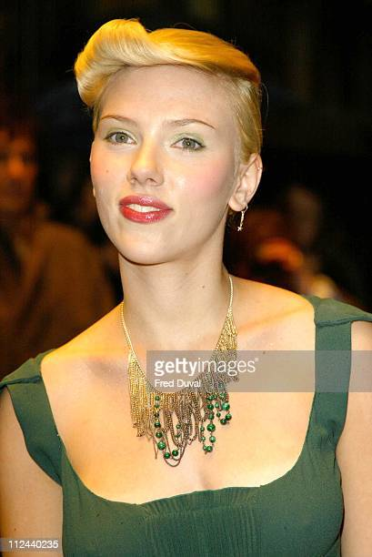 Scarlett Johansson during 'Girl With A Peal Earring' The Times Gala Screening London at West End in London Great Britain