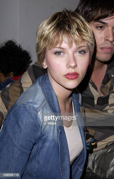 Scarlett Johansson during MercedesBenz Shows LA Petro Zillia Front Row and Backstage at The Standard Downtown LA in Los Angeles California United...