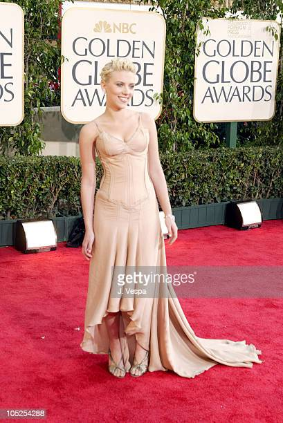 Scarlett Johansson during The 61st Annual Golden Globe Awards Arrivals at The Beverly Hilton in Beverly Hills California United States