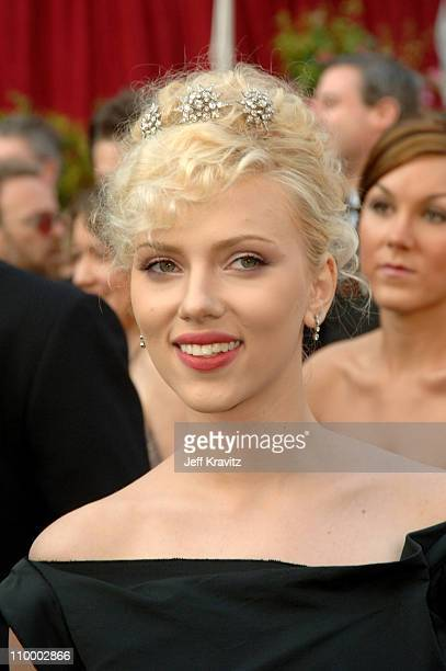 Scarlett Johansson during The 77th Annual Academy Awards Arrivals at Kodak Theatre in Los Angeles California United States