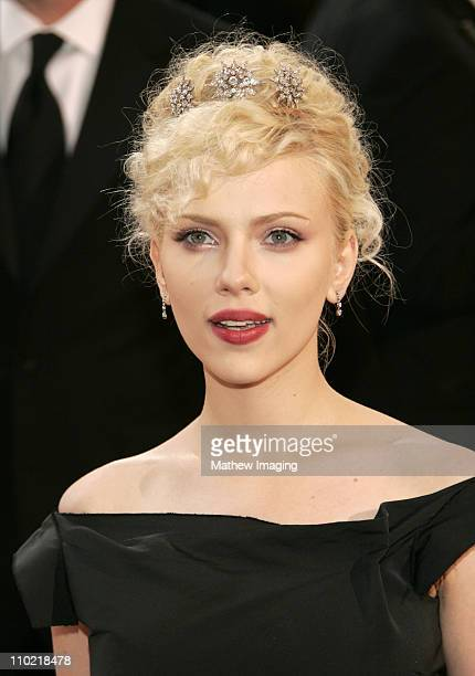 Scarlett Johansson during The 77th Annual Academy Awards ET Platform at Kodak Theatre in Los Angeles California United States