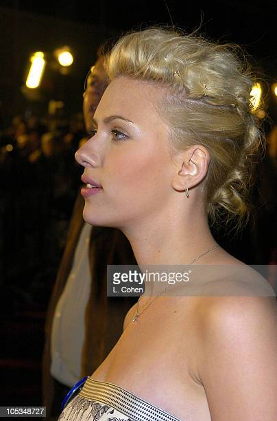 Scarlett Johansson during 'The Perfect Score' Premiere Red Carpet at Cinerama Dome in Hollywood California United States