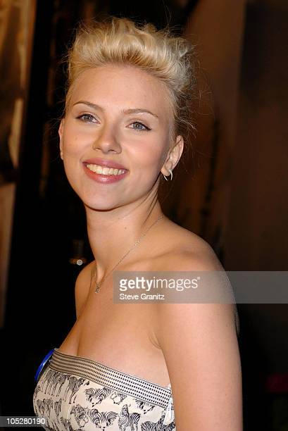 Scarlett Johansson during 'The Perfect Score' World Premiere at Cinerama Dome in Hollywood California United States