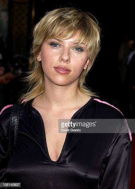 Scarlett Johansson during World Premiere of 'The Italian Job' Red Carpet at Grauman's Chinese Theatre in Hollywood California United States