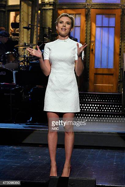 LIVE 'Scarlett Johansson' Episode 1681 Pictured Scarlett Johansson during the monologue on May 2 2015