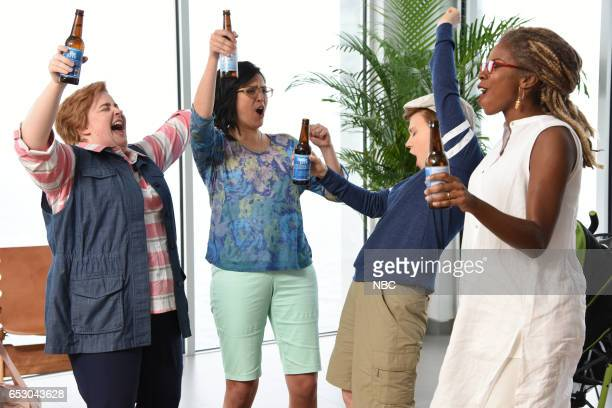 LIVE 'Scarlett Johansson' Episode 1720 Pictured Aidy Bryant Cecily Strong Kate McKinnon and Sasheer Zamata during the 'Fire Island' sketch on March...