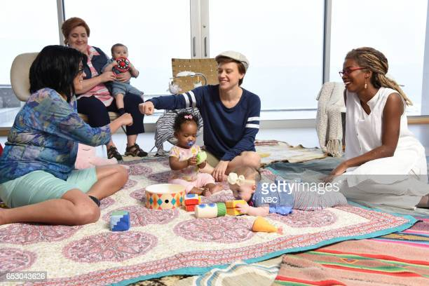 LIVE 'Scarlett Johansson' Episode 1720 Pictured Cecily Strong Aidy Bryant Kate McKinnon and Sasheer Zamata during the 'Fire Island' sketch on March...