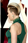 Scarlett Johansson hair detail attends the 87th Annual Academy Awards at Hollywood Highland Center on February 22 2015 in Hollywood California