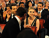 NEW YORK JUNE 13 Scarlett Johansson in the audience at the 64th Annual Tony Awards at Radio City Music Hall on June 13 2010 in New York City
