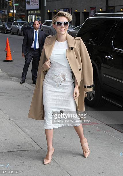 Scarlett Johansson is seen in New York City on April 27 2015 in New York City