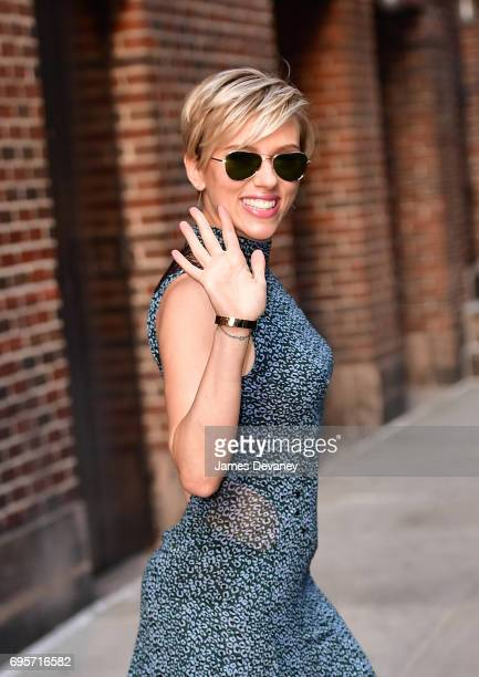 Scarlett Johansson leaves the 'The Late Show With Stephen Colbert' at the Ed Sullivan Theater on June 13 2017 in New York City