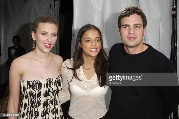 Scarlett Johansson Michelle Rodriguez and Mark Ruffalo
