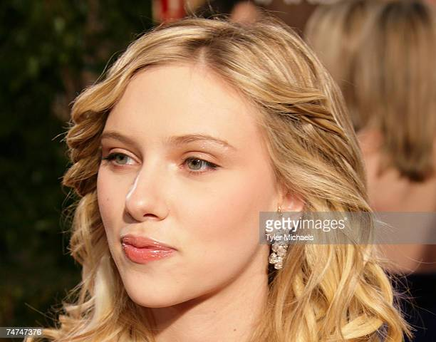 Scarlett Johansson nominee for Best Performance by an Actress in Supporting Role for 'Match Point' at the The 63rd Annual Golden Globe Awards...