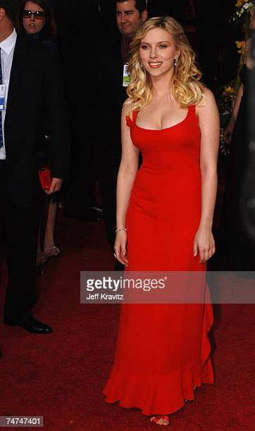 Scarlett Johansson nominee for Best Performance by an Actress in Supporting Role for 'Match Point' at the The 63rd Annual Golden Globe Awards Red...