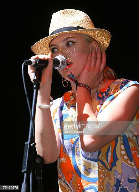 Scarlett Johansson performs with The Jesus and Mary Chain at the Empire Polo Field in Indio California