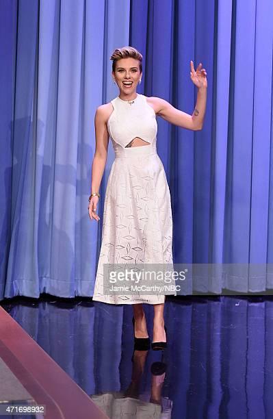 Scarlett Johansson visits 'The Tonight Show Starring Jimmy Fallon' at Rockefeller Center on April 30 2015 in New York City