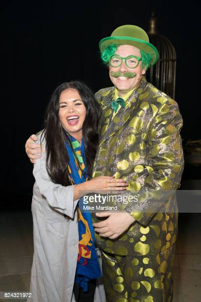 Scarlett Moffatt and Rufus Hound backstage after a performance of 'The Wind In The Willow' at London Palladium on July 29 2017 in London England