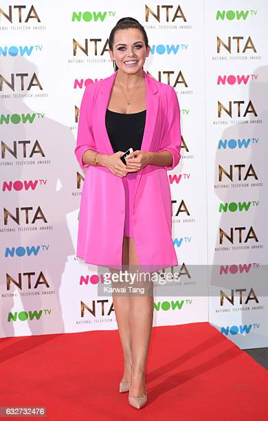 Scarlett Moffatt poses in the winners room at the National Television Awards at The O2 Arena on January 25 2017 in London England