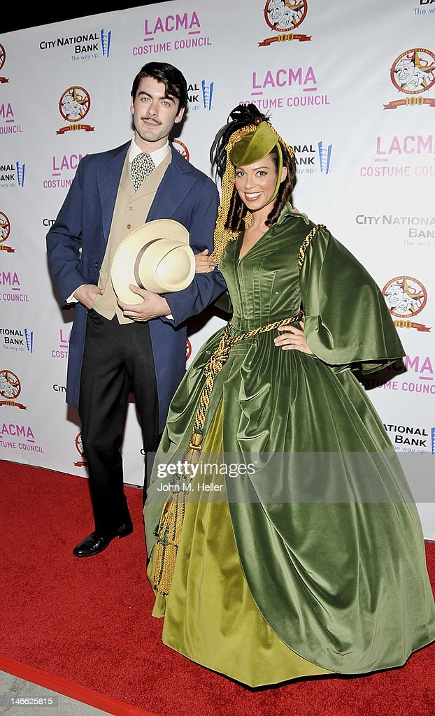 Scarlett O'Hara and Rhett Butler costumes from the movie 'Gone With The Wind' which were worn by Vivienne Leigh and Clark Gable at The Costume...