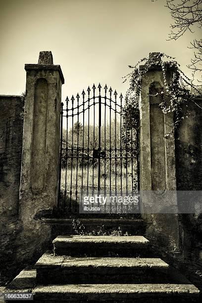 Spaventoso antico cancello monocorde
