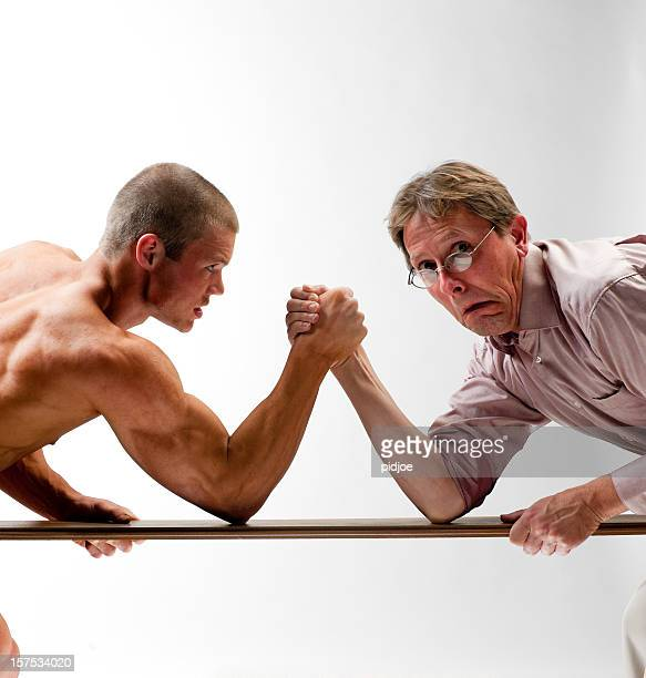 scary man arm wrestling