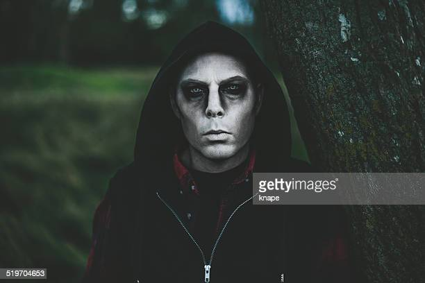 Scary man in halloween make-up