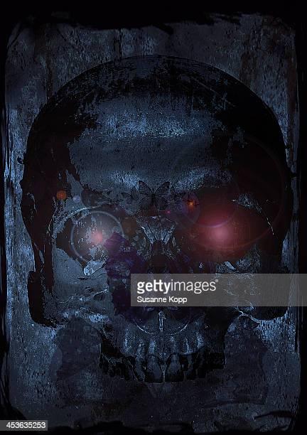 scary skull for halloween