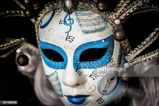 Scary Venice carnival mask close up