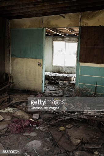 Scattered Debris In Abandoned Room Stock Photo Getty Images